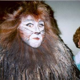 Stephen in makeup for Cats